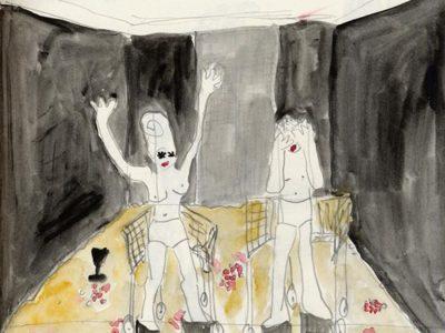 1995 Quartett Berlin Zeichnung 01